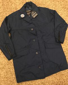 Vintage Navy Blue Gulf Long Rain Coat/ Jacket - Size Large Dunoprufe