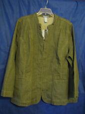 NWT Liz & Me Jeans OLIVE/GRAY DENIM JACKET Military Color-ish STRETCH 2X 22-24W