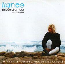 France GALLPrivée d'amour Remix inédit cd collector transparentCD SINGLERARE
