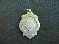 Sterling Silver Fob Vintage 1950 Birmingham Inscribed LADIES SINGLES  5.2 g E3