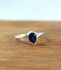 Natural Blue Sapphire Diffusion 925 Sterling Silver Handmade Ring Birthstone
