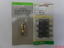 MIXED LOT of 2 Radio Shack 270-742B Fuse Block & Archer 270-1204 Blade Fuse Taps