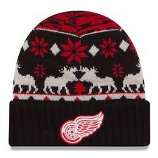 "Detroit Red Wings New Era NHL ""Team Mooser"" Cuffed Knit Hat"