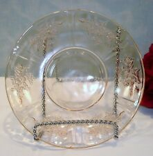Sharon Cabbage Rose by Federal Pink Depression Glass Saucer