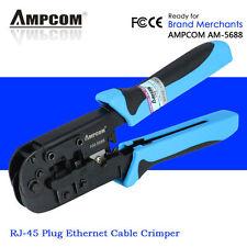 Ampcom RJ45 RJ11 Network Telephone Cable Plugs Crimp Tool Crimper Crimping Plier