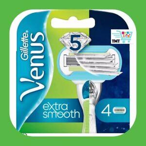 4 X Gillette Venus Embrace Damen 5-Bladed Glatt Rasierer Klinge-Minen Schnell P