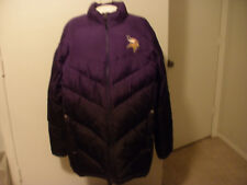 REEBOK NFL ONFIELD MN VIKINGS MEN'S DOWN JACKET PUFFER COAT LARGE PURPLE BLACK