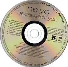 Ne-Yo: Because Of You PROMO MUSIC AUDIO CD Sunfreakz Josh Harris Chop Shop Kriya