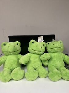 Rare Build-A-Bear Spring Green Frog Plush Stuffed Toy |  FREE SHIPPING w papers