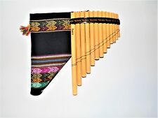 PROFESSIONAL   PAN FLUTE 13   PIPES NATURAL BAMBOO CASE INCLUDED  ITEM IN USA