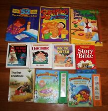 Lot of 10 Children's Bible Stories & Teaching Materials MINT Books
