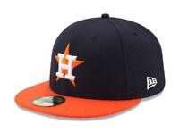 New Era 59Fifty Hat Mens MLB Houston Astros Navy Blue Orange 2019 RD 5950 Cap