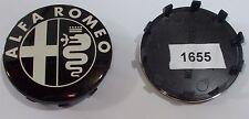 Coprimozzo diametro 60 mm ALFA ROMEO fondo nero