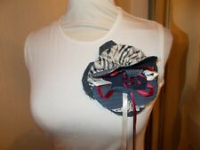 BURBERRY Vest Top 8 10 White T Shirt Corsage Denim Beige Nova Check Fitted  VGC