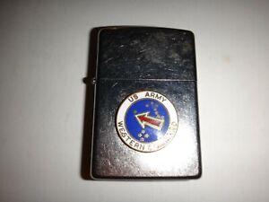 An 2011 Rue Briquet Chromé Zippo États-Unis Armée Ouest Command Jamais Utilisé
