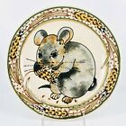 """Art Pottery Decorative Mouse Plate Charger 10.5"""" Artist Signed Rothwoman"""
