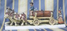 Selten Hummel Pferde  /  Kuh Gespann Wagen