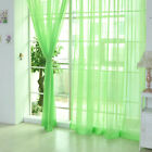 2 X Valances Tulle Voile Door Window Curtain Drape Panel Sheer Scarf Divider FF