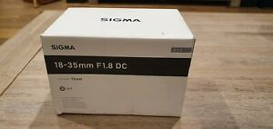 Sigma 18-35mm F1.8 Canon EF mount lens - used in great condition