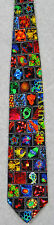 MICROBIOLOGY CELLS GERMS DISEASES DNA SCIENCE Museum Artifacts Silk Necktie NEW!
