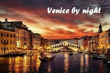 SOUVENIR FRIDGE MAGNET of VENICE BY NIGHT