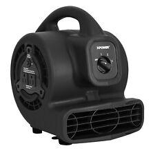 XPOWER P-80A,600 CFM,Low 1.2 Amp Mini Air Mover Carpet Dryer Floor Blower-Black