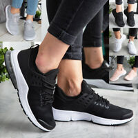 Ladies Trainers Womens Running Flat Comfy Fittness Gym Sports Lace Up Shoes Size