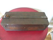 Antique Vintage Primitive Handmade Wood Dove Tailed Tool Chest Wooden Box