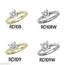 Anillos de joyería con diamantes amarillo brillante