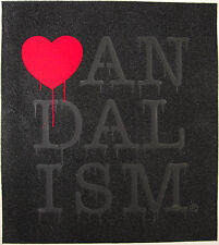 NICK WALKER Vandalism Black Diamond Dust 2014 print graffiti heart love NYC