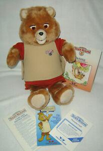 VintageTeddy Ruxpin Animated Talking Bear Worlds of Wonder WORKS!