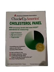 Check Up America Cholesterol Panel EXP: 10/2020 NEW