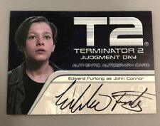 Terminator 2 Edward Furlong Autograph Card John Connor Artb 2003
