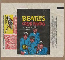 Vintage 1960s Beatles Color Photos Bubble gum Exploding Battleship Wrapper
