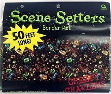 Creepy Crawler Scene Setter Room Border Roll 50ft x 18 in Decor Halloween 106-08