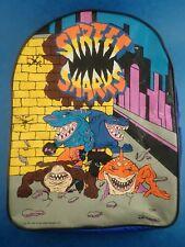 Vintage 1995 STREET SHARKS BACKPACK Bag Street Wise Imaginings Used Condition