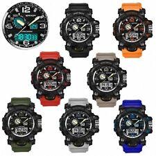 Herren Chronograph Digital Flieger Armbanduhr Sportuhr Wasserdicht Stopp Alarm