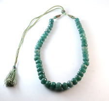 HUGE 128 grams, 640 Carats Faceted Natural Emerald Bead Strand Necklace