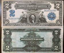 Reproduction Copy 1899 $2 Silver Certificate Washington Mini Porthole USA