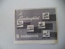 advertising Pubblicità 1969 LAMBORGHINI AUTO/TRATTORI/BRUCIATORI
