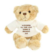 PERSONALISED MESSAGE TEDDY BEAR WITH CREAM JUMPER