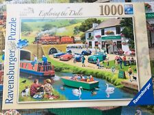 """Ravensburger 1000 Pieced Jigsaw Puzzle """" Exploring The Dales"""" COMPLETE"""