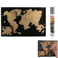 Carte du Monde à Gratter en Français - Poster Monde XXL 60 cm x 40 cm