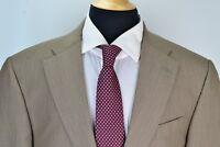 Hart Schaffner & Marx Gold Trumpeter Recent Brown Pinstriped Wool 2 Pc Suit 44L