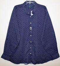 Polo Ralph Lauren Big Tall Mens Navy Blue Triangles Button-Front Shirt NWT 3XLT
