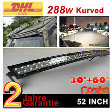 52zoll 288W Kurved Led Lichtleiste SUV Light bar Jeep LKW Lichtbalke Arbeitslamp