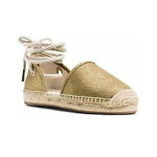 Michael Kors Shoes MK 40S6MGFS3M Margie Closed Toe Metallic Fabric Gold 7M #COD
