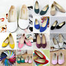 Women Casual Loose Ballet Dolly Pumps Flats Dance Loafer Slip On Casual Shoes