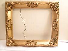 "Antique Vtg Art Deco Ornate Gold Gilt Gesso Wood Picture Frame 26.5"" X 22.5"" B"