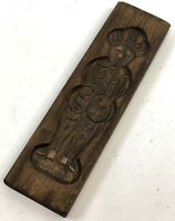 "Vintage 9.5"" Nederlands Netherlands Dutch Carved Wood Soldier Cookie Candy Mold"